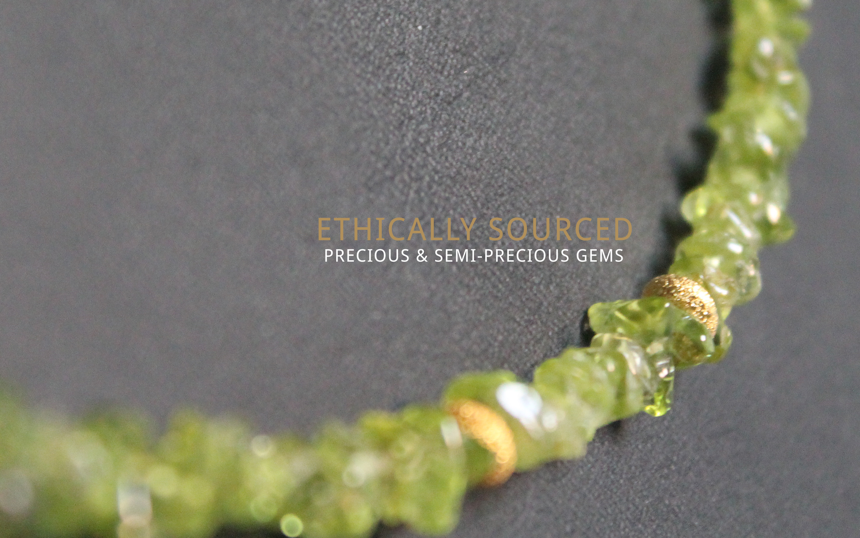 Ethically sourced precious and semi precious gems from Shaheen Jewellery